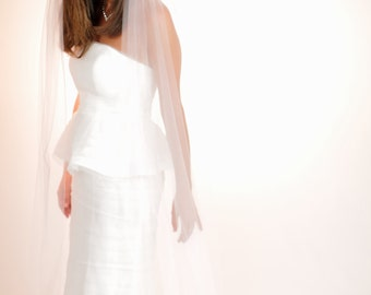 Waltz Length Veil, Single Tier Veils, Chapel Length Veil, Cathedral Length Veils, Weddings, Accessories, Veils