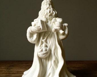 Santa Claus, Santa, Vintage Porcelain Bisque Old World Santa Claus