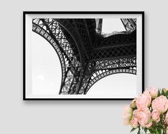 Eiffel Tower Art Paris Print Paris Decor Photograpy Paris  Wall Art Eiffel Tower Black and white Paris Instant Download