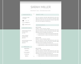 resume template and cover letter template for word diy printable 4 pack mac or