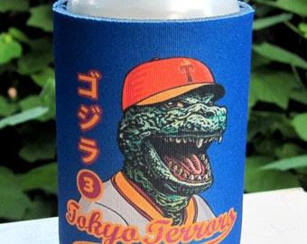 Kaiju Baseball Can Cooler-  Foam Monster Baseball Can Cooler for Cans and Bottles