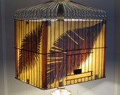 The Thing with Feathers birdcage floor lamp