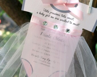 Tutu Onsie Baby Shower Invite