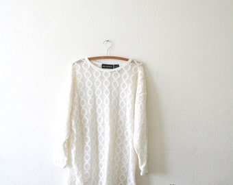 Oversized Crochet Sweater