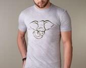 Mens ELEPHANT Tshirt, Elephant Tee Shirt, Bamboo & Organic Cotton T-shirt for Men
