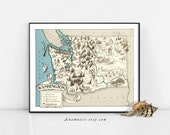 WASHINGTON MAP PRINT - Printable Instant Digital Download - vintage pictorial map for framing, pillows, wedding gift, totes, mugs, cards