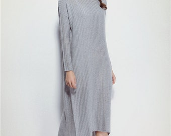 Grey Asymmetric Kaftan / Maxi Dress / Loose Extra Long Sleeve Kaftan / Long Summer Dress / Loose Casual Fitting