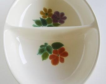 Franciscan Floral Earthenware Divided Serving Dish