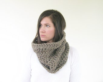 Knit Infinity Scarf | Winter Scarf  | Chunky Scarf Crochet Cowl | Handmade Scarves | Gift Ideas for Her