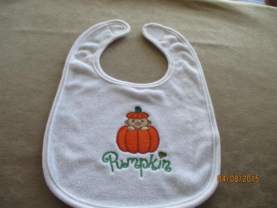Baby bib gift machine embroidery