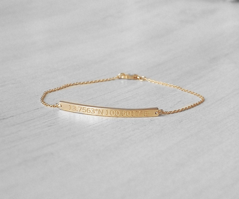 dainty coordinates bracelets custom coordinates bracelets