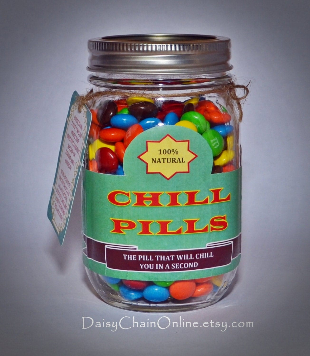 Printable labels for diy a jar of chill pill diy for Homemade gifts in a jar for men