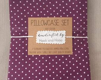 Pillowcase Set, Vintage Inspired Crochet Edge, pillowcase with crochet, cotton bedding, personalized pillowcase, housewarming gift, monogram