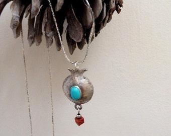 Pomegranate necklace , Pomegranate pendant , Rimon pendant , Judaica Jewelry , Rosh Hashanah gift , new year gift