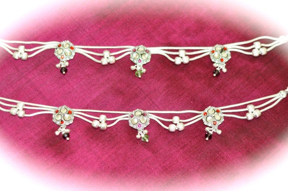 Pure Silver Anklets 2 Silver Anklets Indian Pure