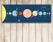 Personalized Constellation and Solar System Print, Solar System Decal, Constellation Art, Kids Gift, Planets Print