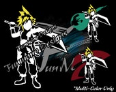 Cloud Strife Vinyl Decal (Final Fantasy VII Series) *Multi-Color Version* featured image