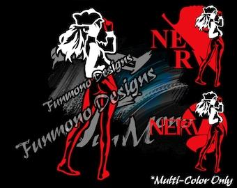 Asuka Langley Sohryu Vinyl Decal (Neon Genesis Evangelion Series) *Multi-Color Version*