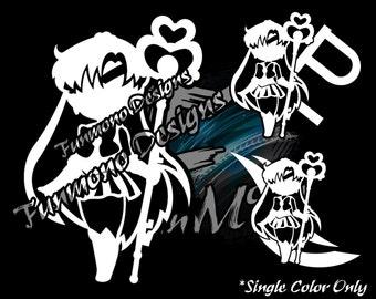 Chibi Sailor Pluto Vinyl Decal (Sailor Moon Series)