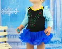 Baby Anna Dress with long sleeves, Anna Bib, Anna Halloween Costume