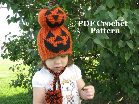 Crochet Pattern Novelty Hats : Crochet Pumpkin Novelty Hat Crochet Pumpkin Hat Pattern