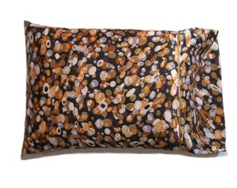 """Decorative Pillow and Pillow Cover. Satin Bed Accent Pillow. Travel Pillow 12""""x16"""" Pillowcase. Toss Pillow and Cover Completely Washable."""