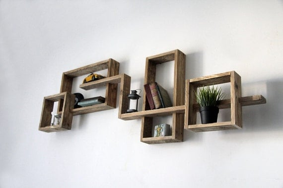 Etag?re Bois Brut : Pallet Wall Shelves