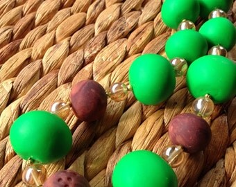 Daintree - Bright Green Statement Necklace