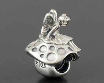 new Authentic Genuine Pandora Sterling Silver   Forest Fairy Charm - 791734 NEW