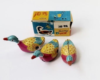 1960's Wind-up ducks—set of three