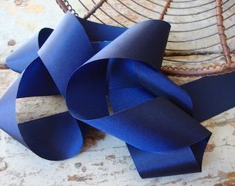 Midnight Blue Taffeta Ribbon