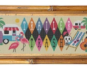 TRAILER TRASH SIGN - Modern Counted Cross Stitch Pattern - pdf instant download