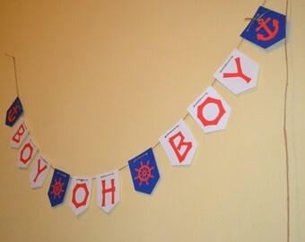 Boy Oh Boy Banner/Banner/Baby Boy Shower Banner/Baby Boy Banner/Baby Banner/Baby Shower Banner