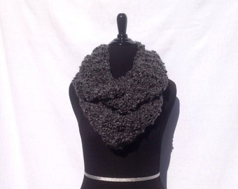Super Soft Infinity Scarf in Charcoal Gray