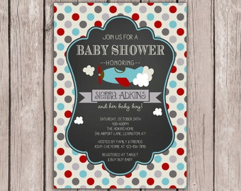 airplane baby shower invite airplane birthday invite baby shower