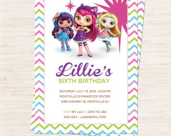 Little Charmers Birthday Party Invitation | Little Charmers Party Invitation Printable | Girl Birthday | Gracie Lee Design