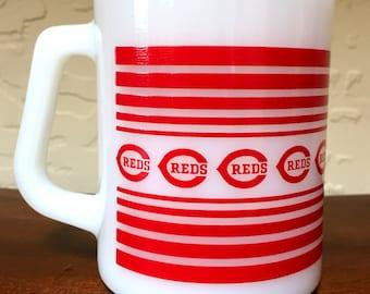 Cincinnati Reds Milk Glass Mugs Rare Collectible Baseball 4 Available