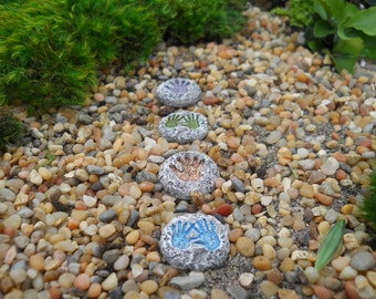 Fairy Palm Print Stepping Stones (Set of 4)