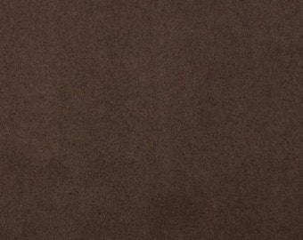 "Chocolate Brown Polyester micro faux suede upholstery fabric by the yard 60"" Wide"