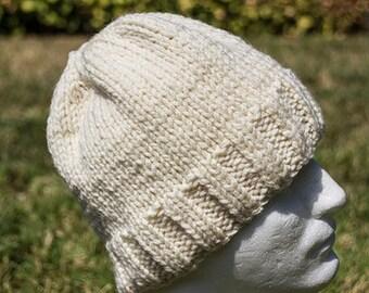 Cream autumn hat, cozy