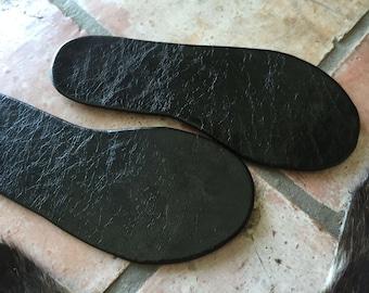 Genuine Black Patent Leather/Color Snakeskin Flip Flops • Mens 9/Womens 10.5
