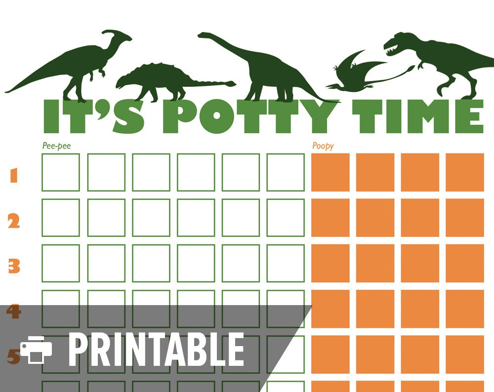 potty training chart dinosaur it s potty 🔎zoom
