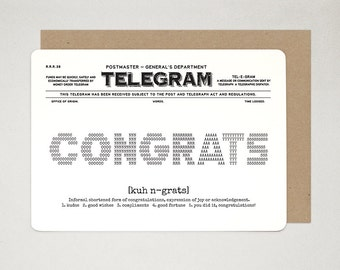 Congratulations Card, Congrats Card, Graduation Card, Celebration Card, TELEGRAM A6 Greeting Card