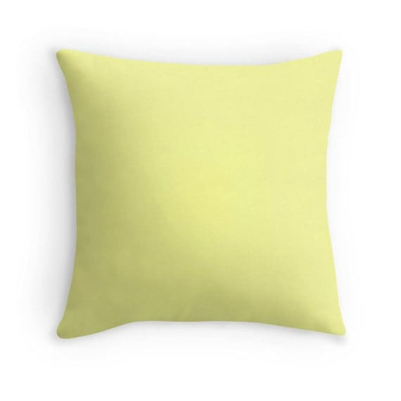 Pale Yellow Decorative Pillows : Pale Yellow Pillow Yellow Throw Pillow by sevenonesixdesigns