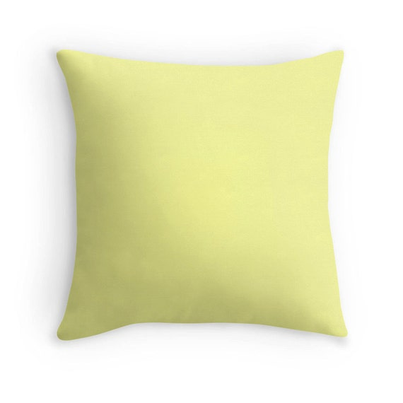 Soft Yellow Decorative Pillows : Pale Yellow Pillow Yellow Throw Pillow by sevenonesixdesigns