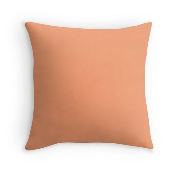 Peach Decorative Throw Pillows : Cantaloupe Pillow Peach Throw Pillow Peach Decorative
