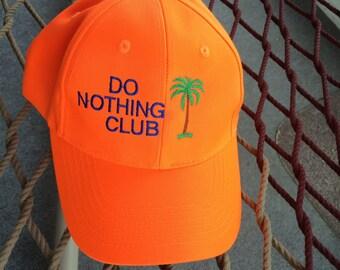 Do Nothing Club - Orange w/Navy Blue Lettering