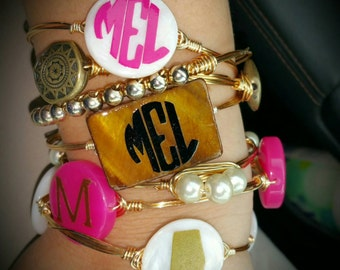Initial Bangled Bracelets