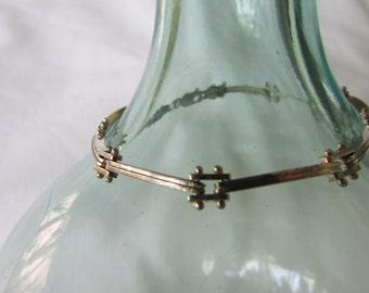 Cool industrial Italian Sterling Silver riveted bracelet