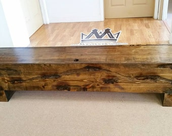 6ft Bench Seating with distressed finish  !